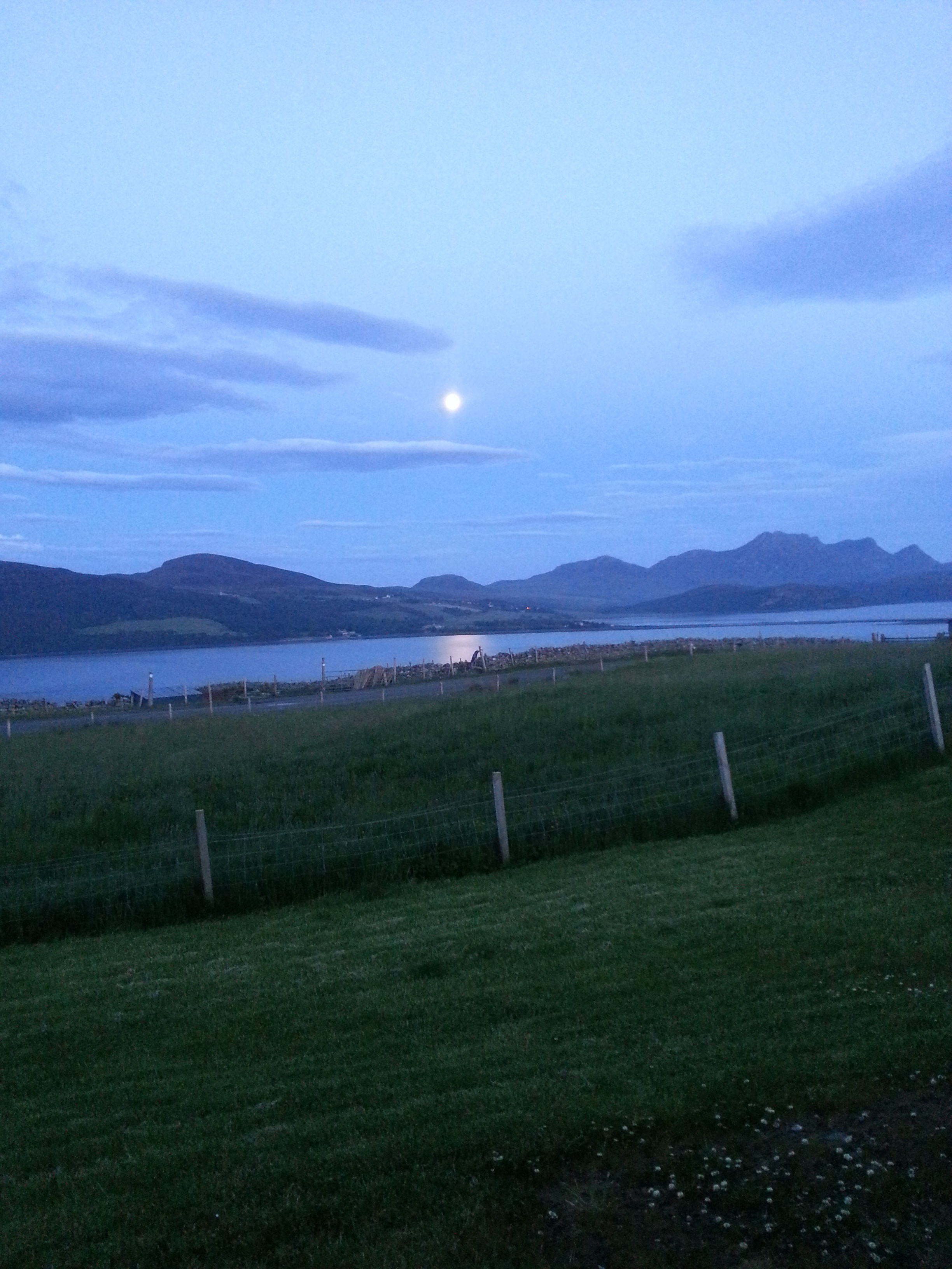 Moon over the Kyle of Tongue